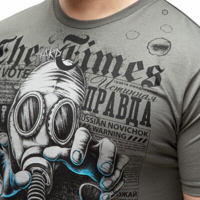 футболка с черепом и противогазом, телевидение